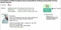Conceptions and Misconceptions about Computational Thinking among Italian Primary School Teachers