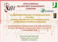Complessità di Security - Stati Generali del Security Management, 21-22 novembre 2018