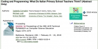 Coding and Programming: What Do Italian Primary School Teachers Think?