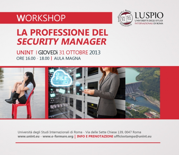 La professione del Security Manager - Workshop