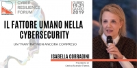 Human factor in cybersecurity at Cyber Resilience Forum - Gubbio, from June 19th to 21st