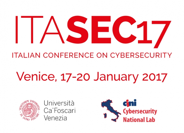 ITASEC17 - The First Italian Conference on Cybersecurity